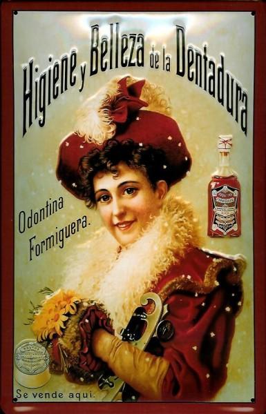 Blechschild Belleza Mundwasser Schild retro Werbeschild Nostalgieschild