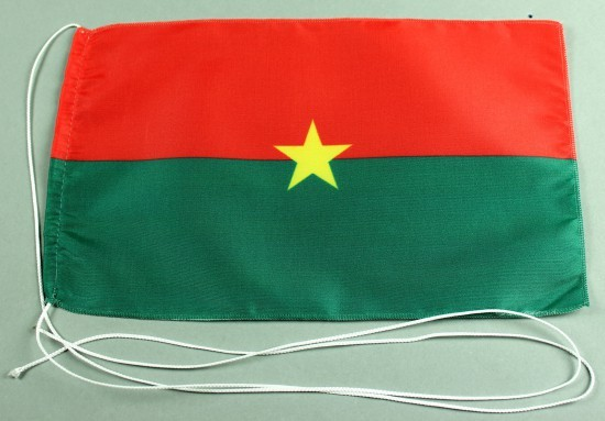 Tischflagge Burkina Faso 25x15 cm optional mit Holz- oder Chromständer Tischfahne Tischfähnchen