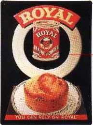 Blechschild Royal baking powder Backpulver Blech Schild retro Nostalgieschild