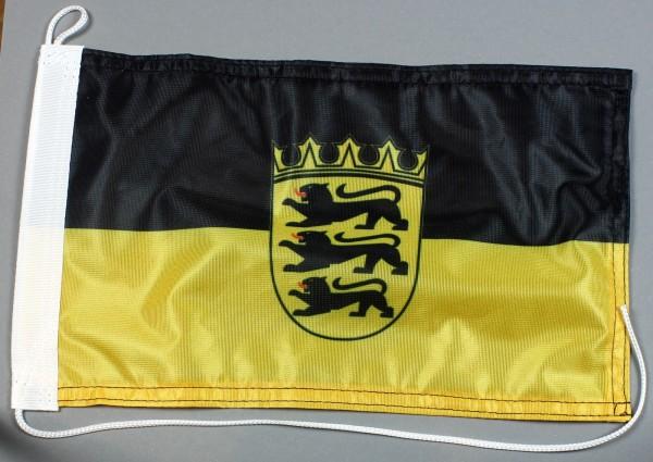 Bootsflagge : Baden Württemberg 30x20 cm Motorradflagge