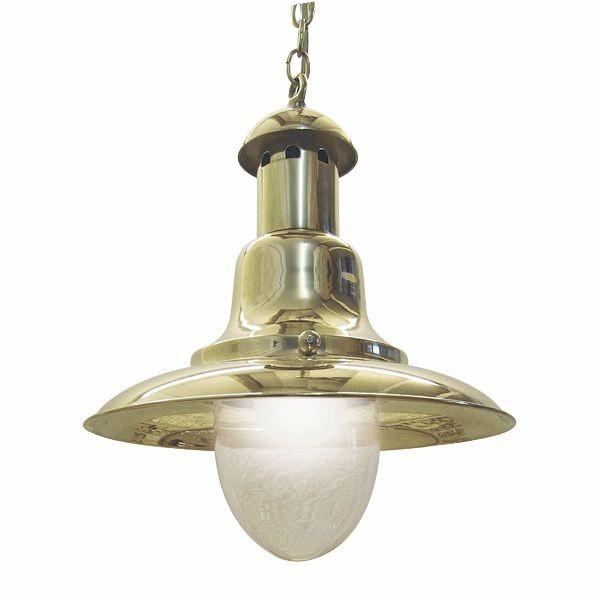 Hängelampe Messing elektrisch 27cm Schirmdurchmesser Fishermen's Lampe