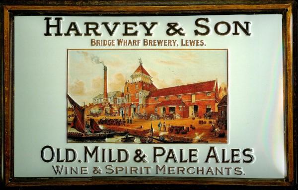 Blechschild Harvey son Pale Ales Lewes Beer Bier Schild Werbeschild