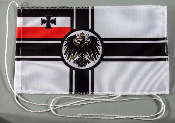 Tischflagge kaiserliche Marine Reichskriegsflagge RKF 25x15 cm optional mit Holz- oder Chromständer
