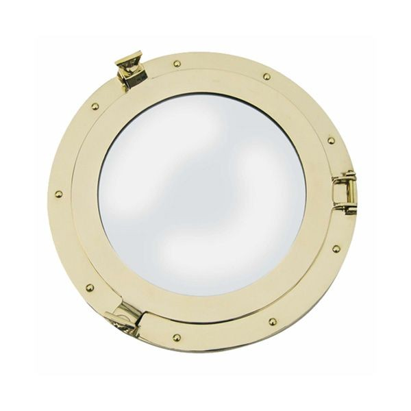 Bullaugen Spiegel 400 mm Messing Bullauge Bullaugenspiegel
