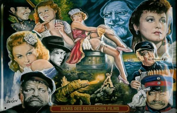 Blechschild Nostalgieschild Stars des Deutschen Films Filmplakat