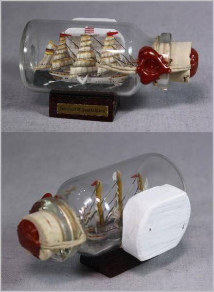 Buddelschiff Schulschiff Deutschland Bremen 5x2 cm Kühlschrankmagnet mit 10x3 mm Neodym Magnet Souve
