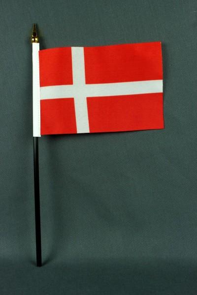 Kleine Tischflagge Dänemark 10x15 cm optional mit Tischfähnchenständer