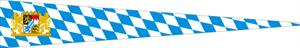 Langwimpel Bayern mit Löwen Staatswappen 30x150 cm