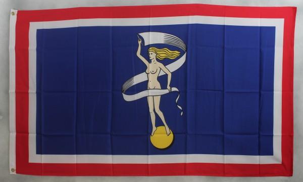 Flagge Fahne Glückstadt Glückstadtflagge Stadtflagge nackte Frau
