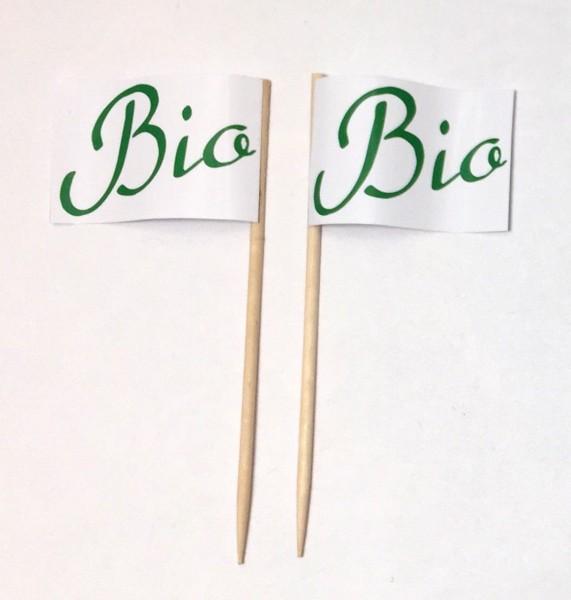 Party-Picker Flagge Bio Grün Papierfähnchen in Spitzenqualität 50 Stück Beutel