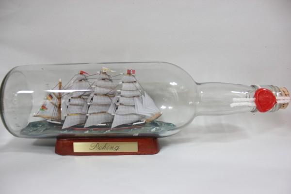 Peking 700 ml runde Flasche Buddelschiff Flaschenschiff