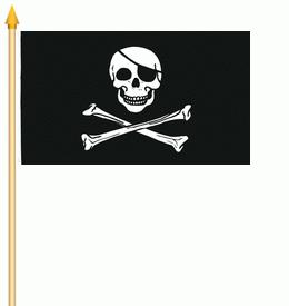 Stockflagge Pirat 30x45cm
