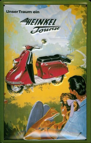 Blechschild Heinkel Tourist Motorroller Nostalgieschild Schild