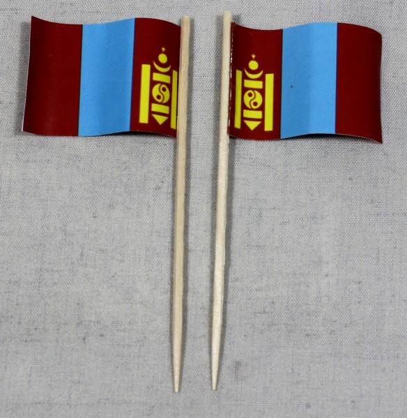 Party-Picker Flagge Mongolei Papierfähnchen in Spitzenqualität 50 Stück Beutel