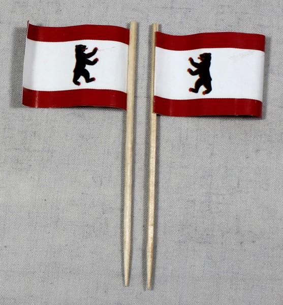 Party-Picker Flagge Berlin Papierfähnchen in Spitzenqualität 50 Stück Beutel