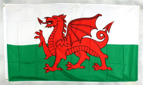 Flagge Fahne : Wales Walesfahne Walesflagge