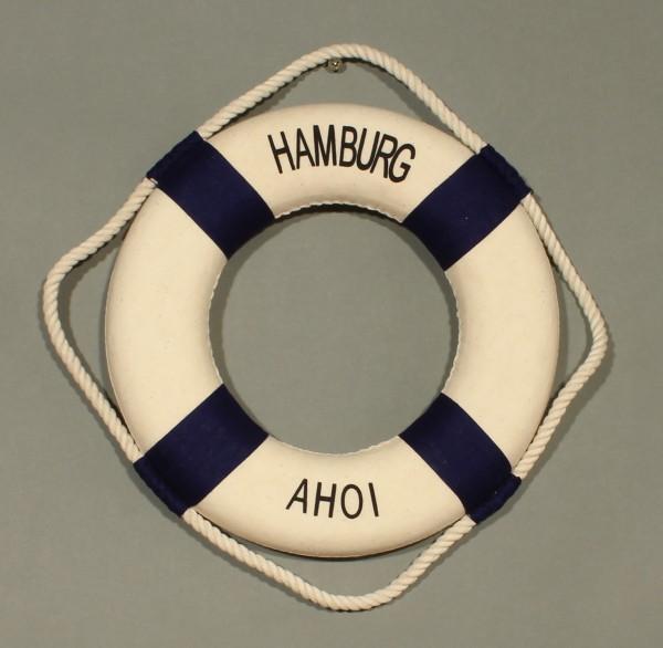 Rettungsring Deko blau 35cm Hamburg Ahoi