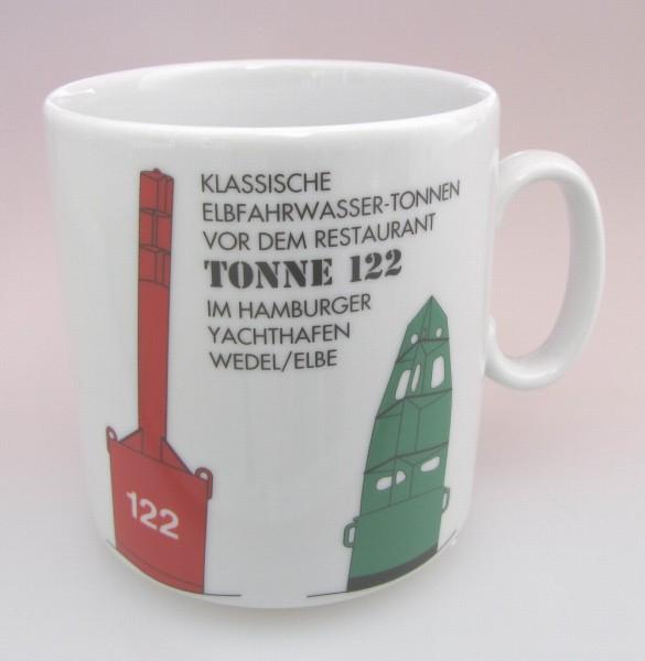 Leuchtturm Becher Tonne 122 Wedel Elbe *