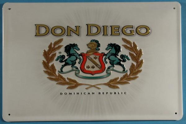 Blechschild Nostalgieschild Don Diego Zigarren Dominikanische Republik Tabakwerbung retro Schild