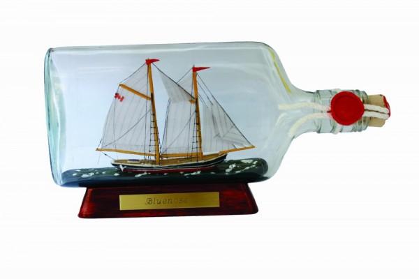 Bluenose Kanada Flachmann Buddelschiff 0,375 Liter ca. 21x9 cm Buddelschiff Museumsqualität