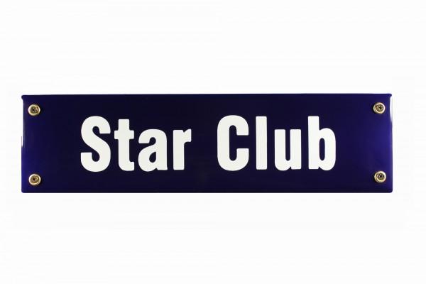 Strassenschild Star Club 30x8 cm Hamburg St. Pauli Beatles Andenken Email Strassen Schild Emaille