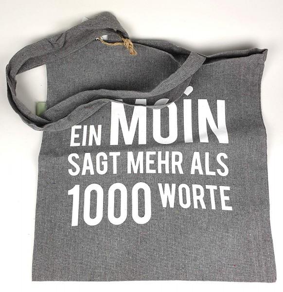 Stofftasche Einkaufstasche EIN Moin SAGT mehr als 1000 Worte Stoffbeutel Baumwollbeutel