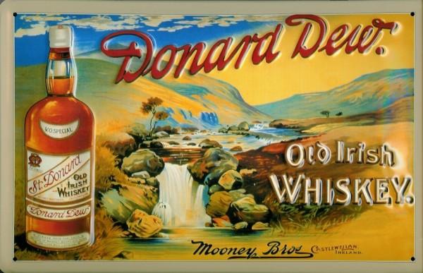 Blechschild Donard Dew Old Irish Whiskey retro Schild Kneipenschild