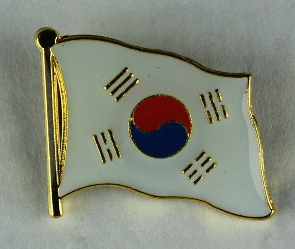 Süd Korea Pin Anstecker Flagge Fahne Nationalflagge