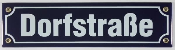 Strassenschild Dorfstraße 30x8 cm Emaille Schild Emaile Emailleschild