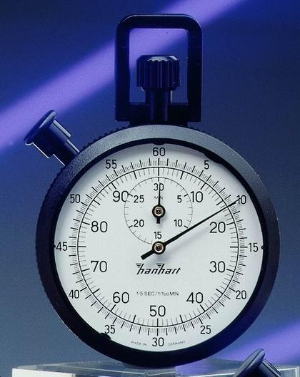 Mechanische Stoppuhr Hanhart ABS 15/sec und 1/100 min, 30 min