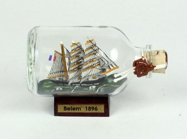 Belem Mini Buddelschiff 50 ml ca. 7,2 x 4,5 cm Flaschenschiff