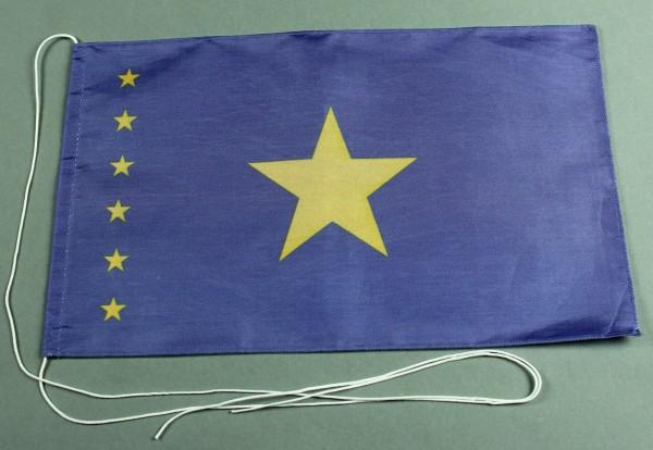 Tischflagge Kongo Kinshasa 25x15 cm optional mit Holz- oder Chromständer Tischfahne Tischfähnchen