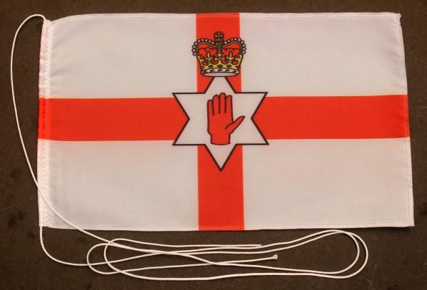 Tischflagge Nordirland Ulster Nord Irland 25x15 cm optional mit Holz- oder Chromständer Tischfahne T