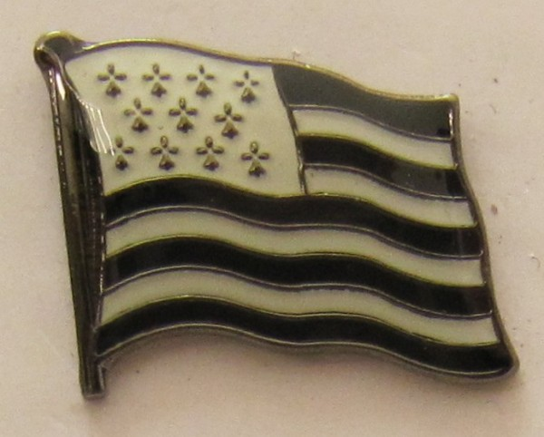 Pin Anstecker Flagge Fahne Bretagne Frankreich Flaggenpin Button Badge Flaggen Clip Anstecknadel