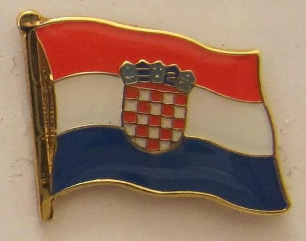 Pin Anstecker Flagge Fahne Kroatien Nationalflagge