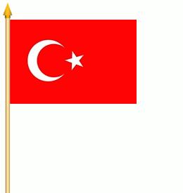 Stockflagge Türkei 30x45cm