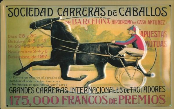 Blechschild Nostalgieschild : Sociedad Carreras de Caballos