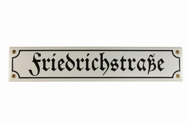 Strassenschild Friedrichstraße 40x8 cm Berlin Andenken Email Strassen Schild Emaille