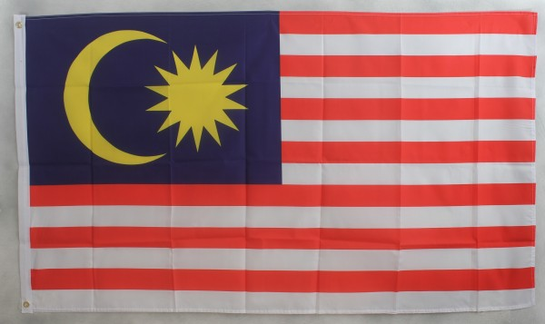 Flagge Fahne : Malaysia Nationalflagge Nationalfahne