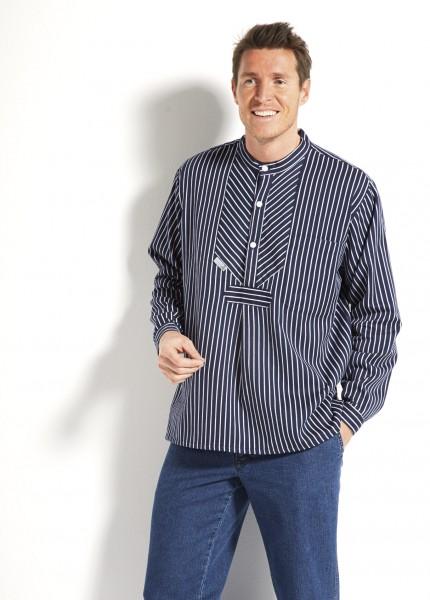 Fischerhemd Finkenwerder Stil BASIC von Modas breit oder schmal gestreift Buscherump