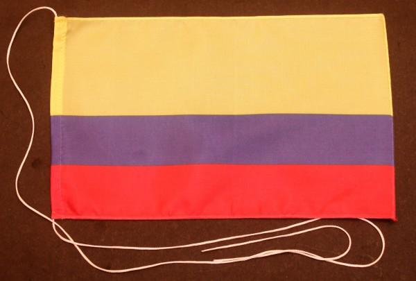 Tischflagge Kolumbien 25x15 cm optional mit Holz- oder Chromständer Tischfahne Tischfähnchen