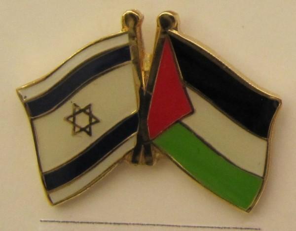 Israel / Palästina Freundschafts Pin Anstecker Flagge Fahne Nationalflagge