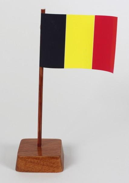 Mini Tischflagge Belgien Höhe 13 cm Tischfähnchen