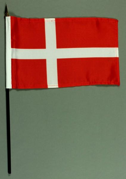 Tischflagge Dänemark 15x25 cm BASIC optional mit Tischflaggenständer
