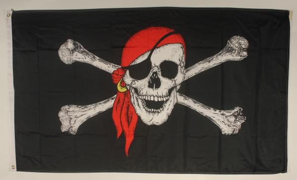 Flagge Fahne Pirat mit Kopftuch 90x60 cm