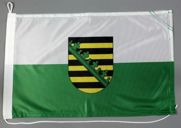 Bootsflagge Sachsen 30x45 cm Motorradflagge Bootsfahne