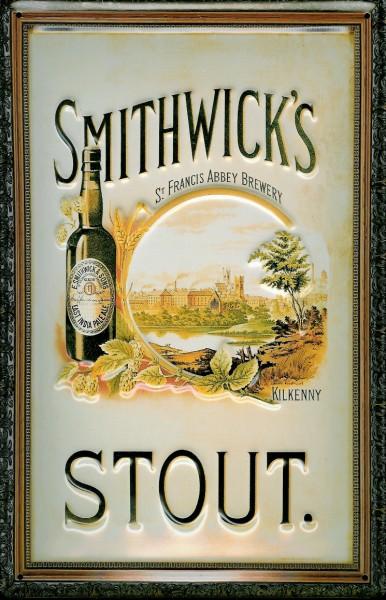 Blechschild Smithwicks Beer Stout Bier Kilkenny Irland Schild Werbeschild
