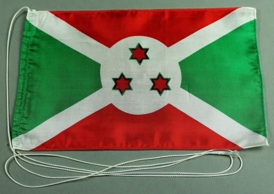 Tischflagge Burundi 25x15 cm optional mit Holz- oder Chromständer Tischfahne Tischfähnchen