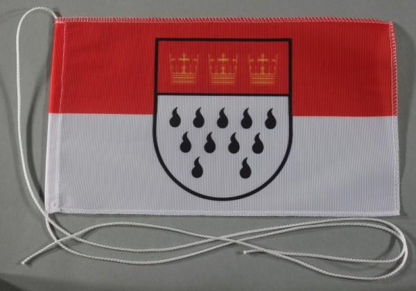 Tischflagge Köln Stadtflagge 25x15 cm optional mit Holz- oder Chromständer Tischfahne Tischfähnchen
