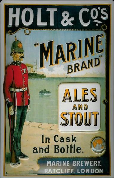 Blechschild Holt & Co. London Marine Brand Ales Stout Schild Nostalgieschild